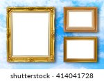 set of picture frame. photo art ... | Shutterstock . vector #414041728
