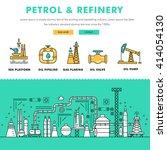modern petrol industry thin... | Shutterstock .eps vector #414054130