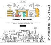 modern petrol industry thin...   Shutterstock .eps vector #414054136