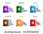 waste segregation and garbage... | Shutterstock .eps vector #414056650