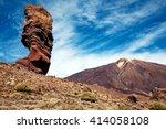 Rock On Volcanic Landscape ...