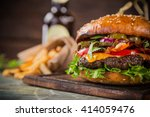 close up of home made tasty... | Shutterstock . vector #414059476