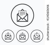 mail envelope icons. print... | Shutterstock .eps vector #414060646