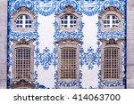 traditional historic facade in... | Shutterstock . vector #414063700