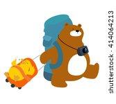 bear and duck backpacks...   Shutterstock .eps vector #414064213