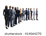 waiting for their turn people... | Shutterstock . vector #414064270