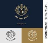 line graphics monogram. logo... | Shutterstock .eps vector #414075034