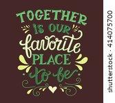hand lettering typography... | Shutterstock .eps vector #414075700