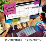 annual leave schedule planning... | Shutterstock . vector #414075940