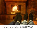 male and female legs near the... | Shutterstock . vector #414077068
