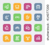 vacation web icons set   Shutterstock .eps vector #414077200