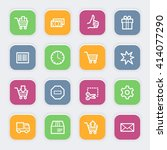 shopping web icons | Shutterstock .eps vector #414077290