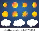 Sun Vector Icon Set Sol...