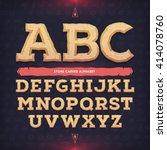 ancient alphabet. memorial... | Shutterstock .eps vector #414078760