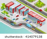 poster of auto service...   Shutterstock .eps vector #414079138