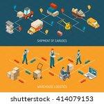 logistics 2 horizontal... | Shutterstock .eps vector #414079153