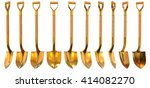 golden shovel set... | Shutterstock . vector #414082270