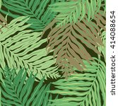 vector palm leaves pattern | Shutterstock .eps vector #414088654