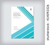 business brochure cover...   Shutterstock .eps vector #414092326