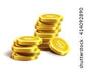 vector illustration of golden... | Shutterstock .eps vector #414092890