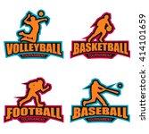 modern logo for basketball ... | Shutterstock .eps vector #414101659