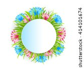 flower decoration round frame... | Shutterstock .eps vector #414101674