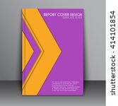 cover for the record  book or... | Shutterstock .eps vector #414101854