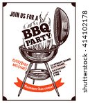 bbq barbecue vintage party... | Shutterstock .eps vector #414102178