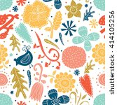 cute blue seamless pattern with ... | Shutterstock .eps vector #414105256