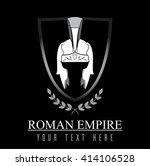 elegant centurion helmet ... | Shutterstock .eps vector #414106528