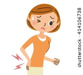 woman who has a pain in her... | Shutterstock .eps vector #414106738