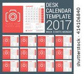 desk calendar template for 2017 ... | Shutterstock .eps vector #414106840