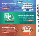 medical and health banners set. ... | Shutterstock .eps vector #414107026