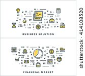 business solution and financial ... | Shutterstock .eps vector #414108520