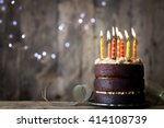 Chocolate Birthday Cake With...
