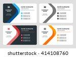 creative business card template.... | Shutterstock .eps vector #414108760