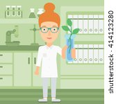 laboratory assistant with test... | Shutterstock .eps vector #414123280