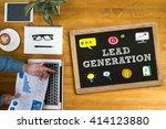 lead generation businessman... | Shutterstock . vector #414123880