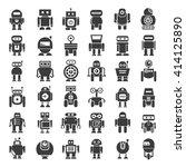 robot icons | Shutterstock .eps vector #414125890