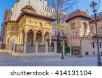 stavropoleos church  bucharest  ... | Shutterstock . vector #414131104