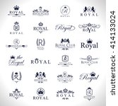 royal icons set isolated on... | Shutterstock .eps vector #414133024