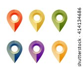 set of plastic map pointers for ...