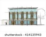 building facade | Shutterstock .eps vector #414135943