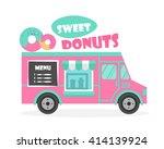 street food truck vector...   Shutterstock .eps vector #414139924