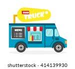 street food truck vector... | Shutterstock .eps vector #414139930