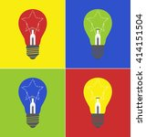 colored bulb with star   Shutterstock .eps vector #414151504