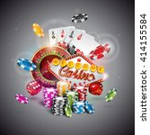 vector illustration on a casino ... | Shutterstock .eps vector #414155584