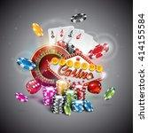vector illustration on a casino ... | Shutterstock .eps vector #414155584