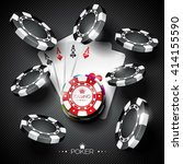 vector illustration on a casino ... | Shutterstock .eps vector #414155590