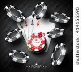 vector illustration on a casino ... | Shutterstock .eps vector #414155590
